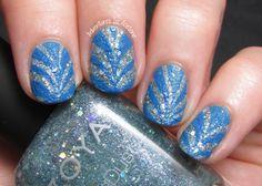 Textured Watermarble Nail Art! Zoya Vega, and Ling