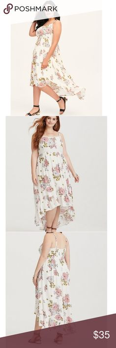 557e30f8eff New Torrid white floral high low dress New with tags torrid Dresses High  Low Floral High