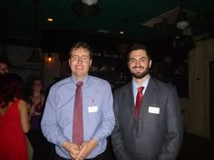 #Lawyer Evan Guthrie with Shawn Furman, Charleston School of Law Class of 2017 at the Charleston County Bar Association Student Division Mentorship Meet And Greet at Prohibition in Charleston, SC on Tuesday October 14, 2014