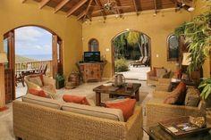 Relaxing in the Great Room Villa Viaggi - St. John, US Virgin Islands Vacation Rental #vacationvistas Click for details...