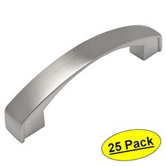 """Cosmas 616-96SN Satin Nickel Cabinet Hardware Handle Pull 3-3/4"""" Inch Hole Centers (96mm) - 25 Pack Cosmas"""