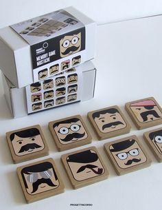 memory game mustache by progettincorso