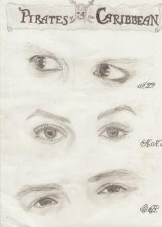 Keira Knightley, Johnny Depp, Orlando Bloom by Sweet-Ella