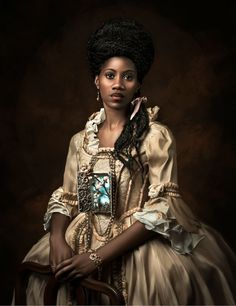 Interview: Powerful Photos of Black Women in White European Nobility Gowns - Art ideas Black Women Art, Beautiful Black Women, Black Art, African American Art, African Art, African Paintings, Black Royalty, Montage Photo, Afro Art
