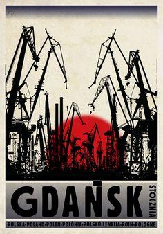 Shipyard, Polish Promotion Poster, designer: Ryszard Kaja