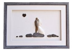 Unique wedding gift Wedding pebble art  bride by PebbleArtDream
