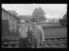 Engineer and brakeman in railroad yards, Elkins, West Virginia, 1939.  Loc.gov