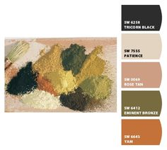 Paint colors from Chip It! by Sherwin-Williams: Tuscan colors