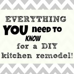 Kitchen remodel DIY. Things to consider and hints for how you live