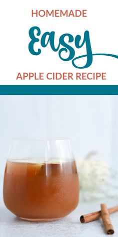 It's time to celebrate the fall season! You'll enjoy making this easy apple cider recipe that makes use of fall's most abundant fruit. Easy Apple Cider Recipe, Apple Recipes Easy, Easy Punch Recipes, Homemade Apple Cider, Drinks Alcohol Recipes, Non Alcoholic Drinks, Yummy Drinks, Drink Recipes, Beverages