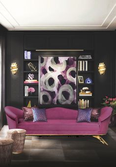 Home decor ideas for living room - The vibe is flirty, a little delicate, ever so slightly vintage. A luxury decoration piece for contemporary home décor