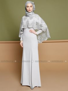 Gamis Aksen Renda Dan Brokat Model Busana Pinterest Dresses
