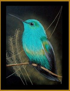 Art: Steely-Vented Hummingbird 2 by Artist Cyra R. Cancel