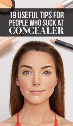 19 Useful Tips For People Who Suck At Concealer - No fancy pants Kim-style contouring here.