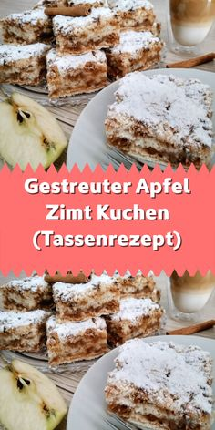 Scattered apple cinnamon cake (cup recipe)- Gestreuter Apfel Zimt Kuchen (Tassenrezept) It can not get easier. Apple Cinnamon Cake, Cinnamon Sugar Cookies, Sugar Cookies Recipe, Cinnamon Apples, Apple Cake, Easy Cookie Recipes, Cake Recipes, Dessert Recipes, Cake Mix Cookies