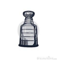 Vector Stanley cup drawing illustration isolated on white background.Hockey trophy Print for t-shirt.Man`s Sports Wallpaper. Stanley Cup Cakes, Stanley Cup Trophy, Stanley Cup Rings, Hockey Stanley Cup, Stanley Cup Playoffs, Stanley Cup Champions, Stanley Cup Costume, Stanley Cup Replica