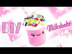 ♡ DIY MILKSHAKE CHARM - in Clay! ♡ | Kawaii Friday - YouTube
