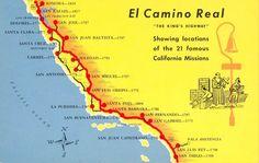 El Camino Real in California Santa Clara California, Alta California, California Missions, California History, San Diego, San Francisco Bay, Conquistador, San Antonio, Puerto Rico