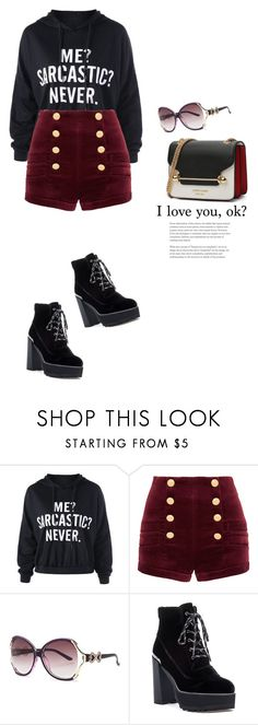 """crushing on"" by mycherryblossom ❤ liked on Polyvore featuring Pierre Balmain and Stuart Weitzman"