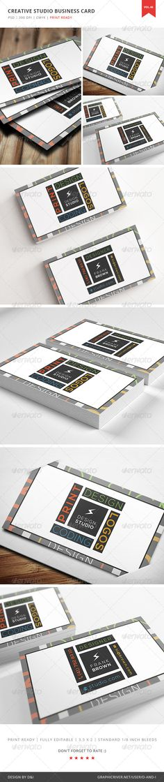 Creative Studio Business Card - Vol. 46