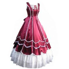 Cozy Age Women's Sleeveless Ruffles Gothic Prom Masquerade Ballgown Wedding Party Evening Dress WineRed,Medium