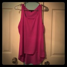 Purple Tank Top Adorable tank top made out of silk-like material. It's been worn a couple of times but has no wear and tear on it. It is in great condition. Wishful Park Tops Tank Tops