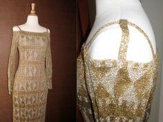 Spectacular Vintage Designer Rudi Gernreich Metallic Knit Deco Rare Gown  https://www.etsy.com/listing/72878053/spectacular-vintage-designer-rudi