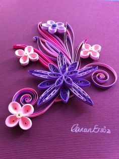 Quilling. Flower. By Canan Ersöz.