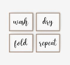 Laundry Room Wall Decor, Laundry Room Signs, Laundry Room Organization, Laundry Room Pictures, Laundry Rooms, Room Decor, Wash And Fold, Bathroom Prints, Wall Art Sets