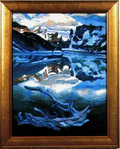 Glacier Lake Joni Mitchell Paintings, Glacier Lake, Lake Painting, T Art, Photo Canvas, Art Music, Oil On Canvas, Original Paintings, Photo And Video