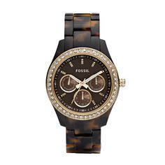 Fossil Stella Resin Watch-Tortoise with gold tone. Love Fossil watches, they last forever, are stylish and are affordable. $105