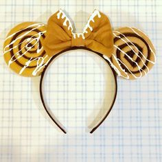 Cinnamon Roll Disney Inspired Ears Headband Scented