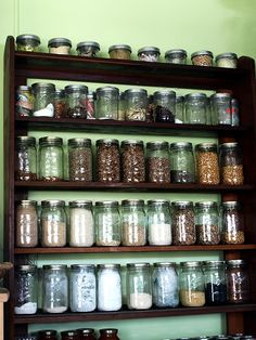 Mason Jar Storage by 216 Stitches, via Flickr