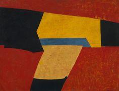 Serge Poliakoff — Composition abstraite à la bande bleue, 1951