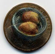 artist Jacqueline Lou Skaggs uses pennies as canvases