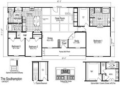 Modular Home Floor Plan - Southampton Modular Home Style in Martinsville, VA Modular Home Builders, Modular Homes, Modular Home Floor Plans, House Floor Plans, Home Design Plans, Plan Design, South Hampton, Prefab, Custom Homes