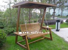 Outdoor Swing Frames | Wooden Swing Chair 3 People Ml-024 - Sell Park Furniture on Made-in ...
