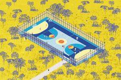 #architecture #sport #landscape #axonometric #architectural #illustration #aplusnoima Yoga Routine, Yoga Fitness, Victoria, Landscape Illustration, Replay, Drawings, Sports, Arch, Collage