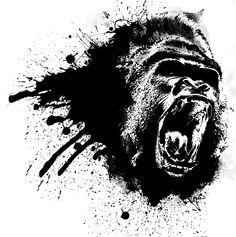 Gorilla Splash by sylie113.deviantart.com on @DeviantArt