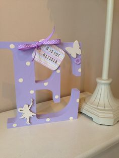 Freestanding+Girl's+Wooden+Initial+Letter+by+TwinkleTwitCrafts,+£8.00