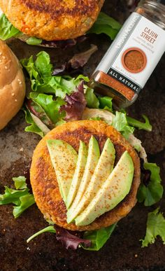 Not sure if chickpeas are paleo?? Cajun Chickpea and Sweet Potato Veggie Burgers with Cajun Aioli