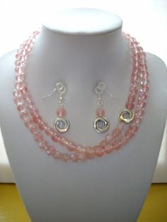 SALE Coral/Peach Agate with Silver Connector by DesignsbyPattiLynn, $30.00
