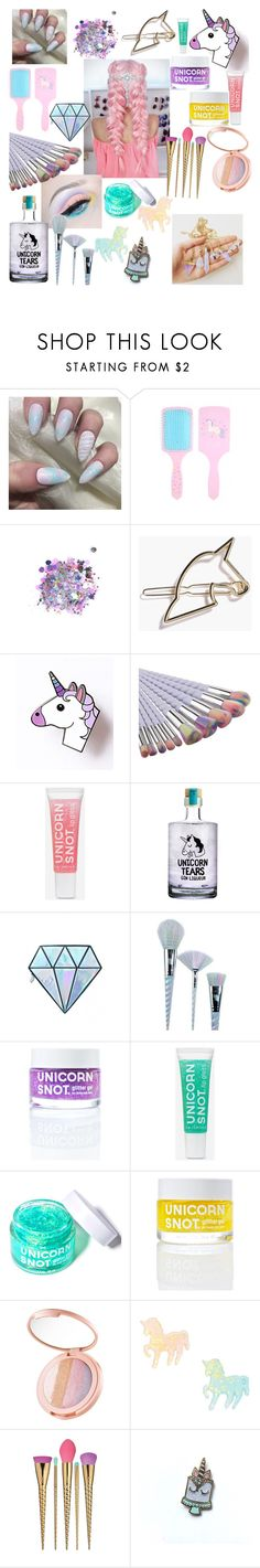 """""""I'm really a unicorn"""" by chouyya ❤ liked on Polyvore featuring beauty, The Gypsy Shrine, Unicorn Lashes, FCTRY, tarte, claire's and Casetify"""