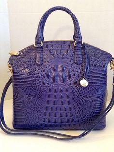 Brahmin Large Duxbury Satchel Turkish Blue Croco Melbourne Leather | eBay