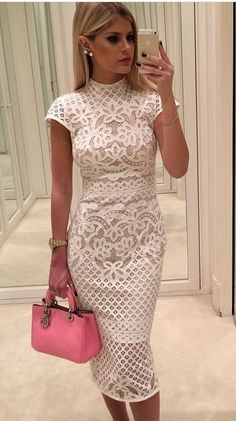 24 ideas bridal shower dress ideas white lace for 2019 Mode Outfits, Dress Outfits, Fashion Dresses, Dress Up, Bodycon Dress, Dress Beach, Fashion Styles, Fashion Ideas, Casual Outfits