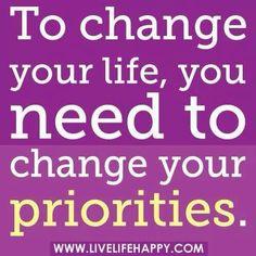 Choose your priorities....