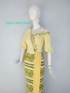 Myanmar Traditional Dress, Traditional Dresses, Pattern Dress, Dress Patterns, Waist Skirt, High Waisted Skirt, Myanmar Dress Design, Dress Collection, Ankara