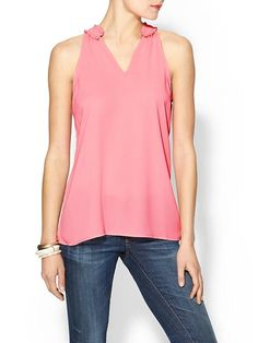 Ruffle Neck Blouse Product Image