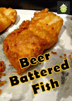 Simply about everyone has tasted delicious beer-battered fish and chips. This dish is much like other beer-batter fish recipes, but it uses Guinness beer, giving it a darker color and a distinctive (but not strong) flavor. Cod Fish Recipes, Fried Fish Recipes, Seafood Recipes, New Recipes, Cooking Recipes, Favorite Recipes, Best Fried Fish Recipe, Fried Haddock Recipes, Best Fish Recipes