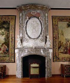 Schoorsteen met reliëf van Paris en Oenone, Jan Baptist Xavery, 1739